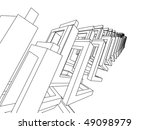 3d abstract architecture | Shutterstock .eps vector #49098979