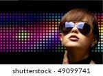 portrait of a beautiful dancing ... | Shutterstock . vector #49099741