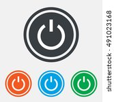 power sign icon. switch on... | Shutterstock .eps vector #491023168