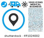 map marker icon with 1000... | Shutterstock .eps vector #491024002
