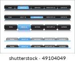 web navigation bar  blue... | Shutterstock .eps vector #49104049