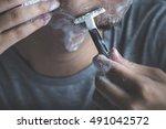 male shaving | Shutterstock . vector #491042572