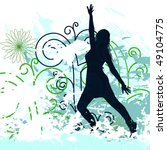 grunge background with dancing... | Shutterstock .eps vector #49104775