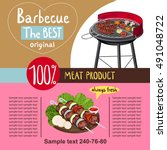 Bbq Grill Or Bbq Party Vector...