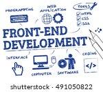 front end development. chart... | Shutterstock . vector #491050822