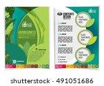 brochure design for industrial... | Shutterstock .eps vector #491051686
