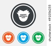 happy mothers's day sign icon.... | Shutterstock .eps vector #491056255