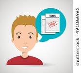 man tax payment report | Shutterstock .eps vector #491066962