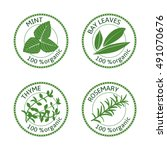 Set Of Herbs Labels. 100 ...