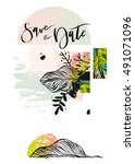 hand drawn vector abstract... | Shutterstock .eps vector #491071096