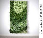 vertical garden  interior...   Shutterstock . vector #491072332