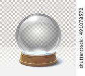 christmas snow globe. magic ball | Shutterstock . vector #491078572
