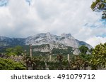 mountain ai petri and towers of ...   Shutterstock . vector #491079712