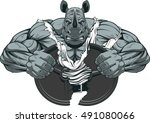 vector illustration of a strong ... | Shutterstock .eps vector #491080066