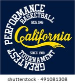 college california sport...   Shutterstock .eps vector #491081308