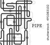 the elements of the pipeline.... | Shutterstock .eps vector #491083102