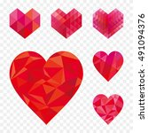 set of different geometric... | Shutterstock .eps vector #491094376