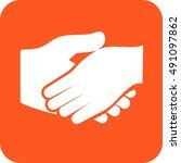 handshake | Shutterstock .eps vector #491097862