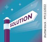 abstract solution street arrow... | Shutterstock .eps vector #491112022