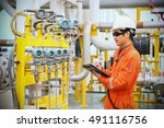 operator recording operation of ... | Shutterstock . vector #491116756