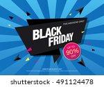 black friday sale banner | Shutterstock .eps vector #491124478