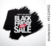 black friday sale banner | Shutterstock .eps vector #491124502