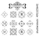 set of vector decorative frames ... | Shutterstock .eps vector #491125642