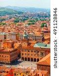 italy piazza maggiore in... | Shutterstock . vector #491128846