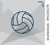 volleyball ball | Shutterstock .eps vector #491142178
