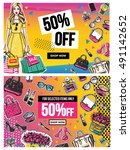 fashion sale and special offer...   Shutterstock .eps vector #491142652