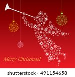 christmas angel   illustration | Shutterstock .eps vector #491154658