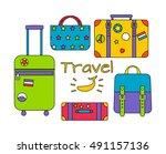 vector illustration of travel... | Shutterstock .eps vector #491157136