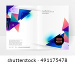 geometric background template... | Shutterstock .eps vector #491175478
