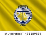 flag of anchorage is a unified... | Shutterstock . vector #491189896