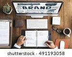 brand corporate business...   Shutterstock . vector #491193058