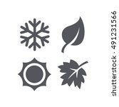 A Set Of Four Seasons Icons....