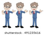 businessmen gestures | Shutterstock .eps vector #491235616