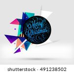 christmas design and elements... | Shutterstock .eps vector #491238502