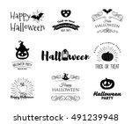 halloween party invitation...   Shutterstock .eps vector #491239948