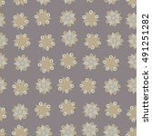 seamless pattern of stylized... | Shutterstock . vector #491251282