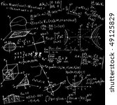 mathematical equations and... | Shutterstock .eps vector #49125829