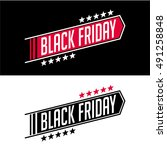 black friday sale inscription... | Shutterstock .eps vector #491258848