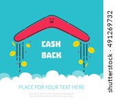 cash back reward concept.... | Shutterstock .eps vector #491269732