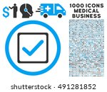 blue and gray checkbox vector...
