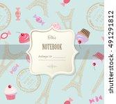 cute template for scrapbook... | Shutterstock .eps vector #491291812