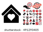 love house pictograph with... | Shutterstock . vector #491293405