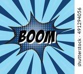boom  colorful speech bubble... | Shutterstock .eps vector #491294056