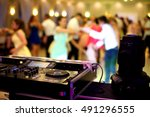 dancing couples during party or ... | Shutterstock . vector #491296555