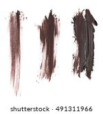 set photo stain  brown grunge... | Shutterstock . vector #491311966