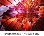 fractal shining   floral... | Shutterstock . vector #491315182